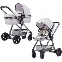 Knorr-Baby FOR YOU Kombi Kinderwagen Sportkarre Buggy Einsitzer Aluminium Grau