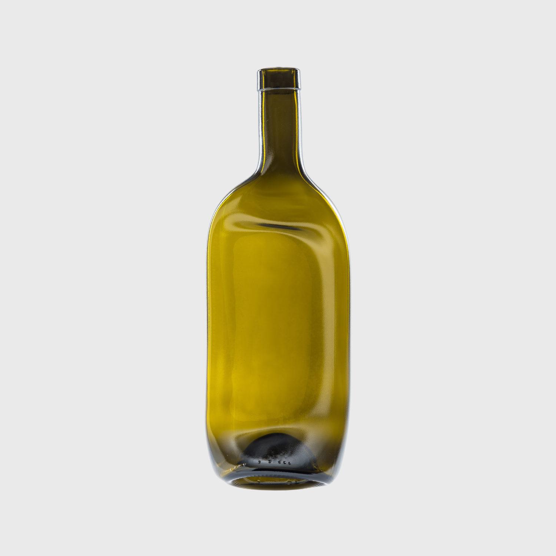 Bordeauxflasche geschmolzen upcycling recycling Handarbeit teller