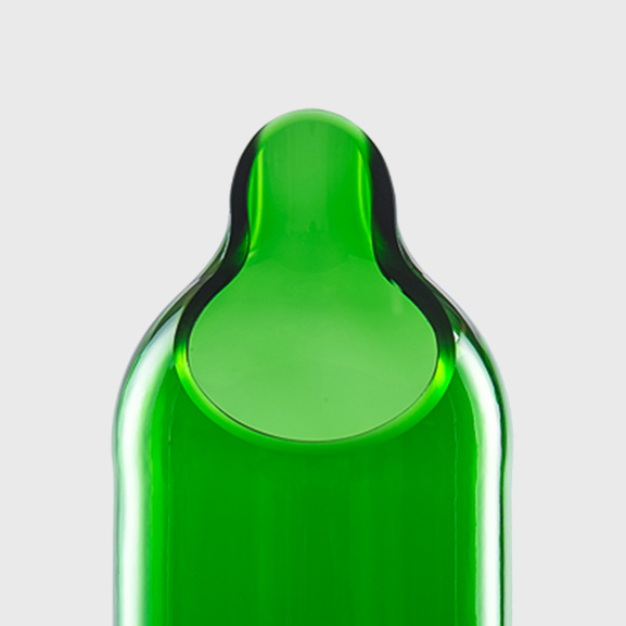 Carafe green forest Water Wine Bottle upcycling recycling handmade