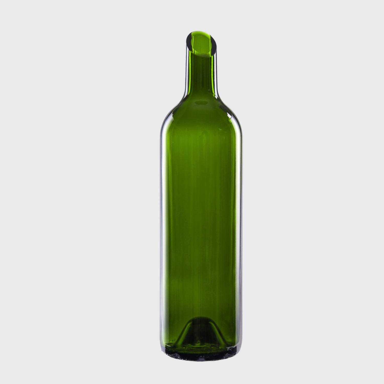 vase schräge Öffnung flasche upcycling glas