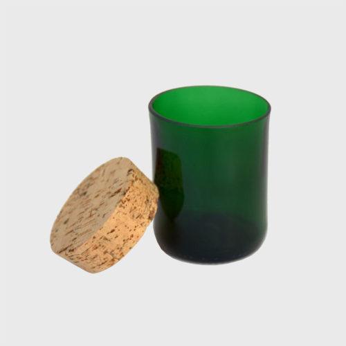 champagner vorratsglas upcycling recycling grün der natur naturkork