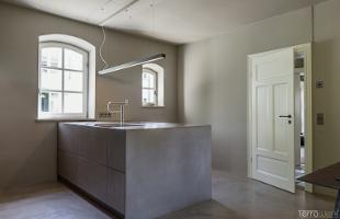 Fugenlose Oberflächen Küche Terralime