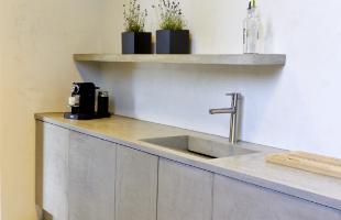 Fugenlose Oberflächen Küchenzeile Terralime