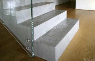 Fugenlose Oberflächen Treppe Terralime