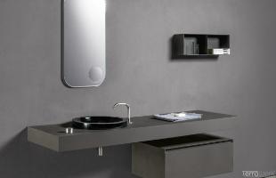 Makro Waschtisch Spiegel Bad Design